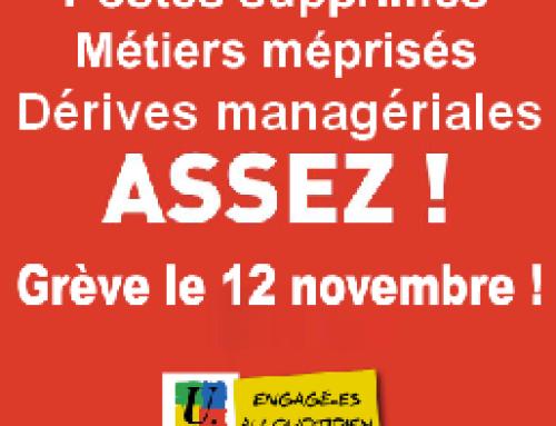 Suppressions de postes dans l'Éducation nationale : en grève le 12 novembre !