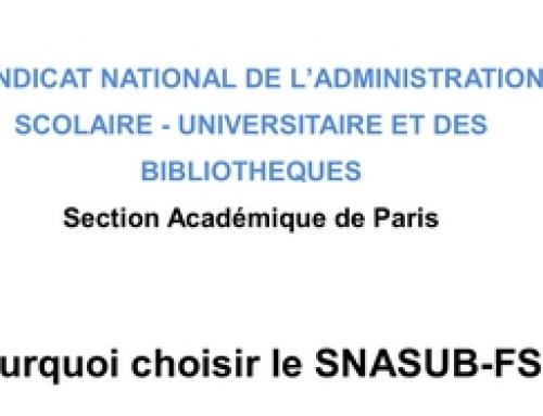 Pourquoi choisir le SNASUB-FSU ?