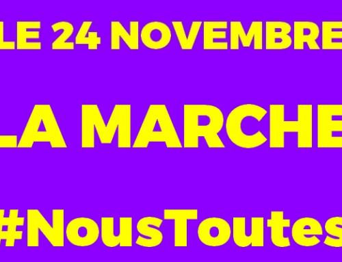 Mobilisation #NousToutes le samedi 24 novembre. À Paris RDV à 14h Place de La Madeleine