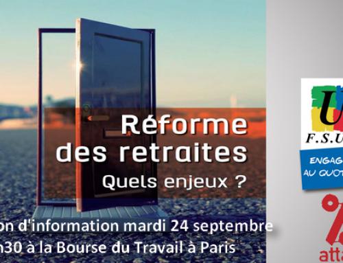 Réunion d'information avec Benoît Teste de la FSU et Bernard Teper d'ATTAC