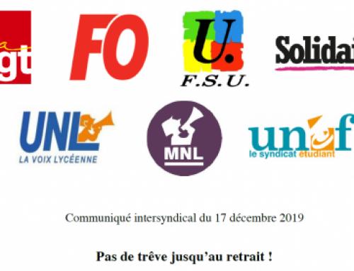 Communiqué de l'interprofessionnelle : 31 mars, journée nationale de grève