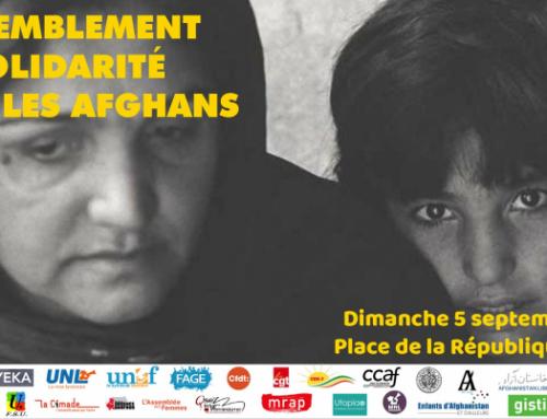 Rassemblement en solidarité avec les Afghans – Dimanche 5 septembre à 15h République